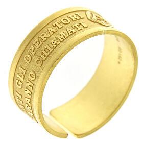 Anello argento dorato sterling Beati gli Operatori di Pace s1