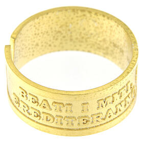Anillo ajustable Beati i Miti plata 925 dorada s2