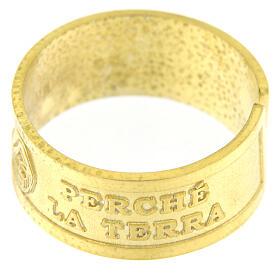 Anello regolabile Beati i Miti argento 925 dorato s3