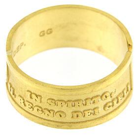Anello dorato Beati i Poveri in Spirito argento 925 regolabile s3