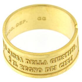 Bague Heureux les Persécutés argent 925 doré ouverture s3