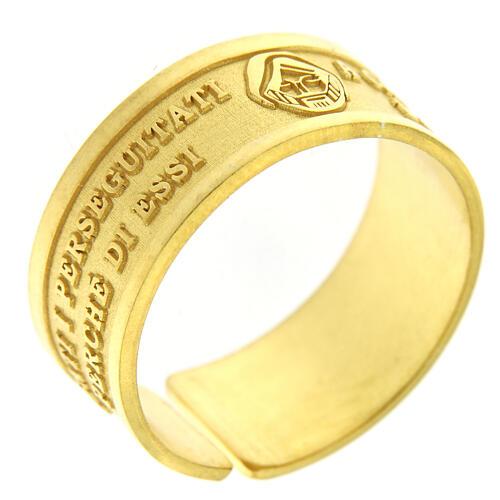 Bague Heureux les Persécutés argent 925 doré ouverture 1