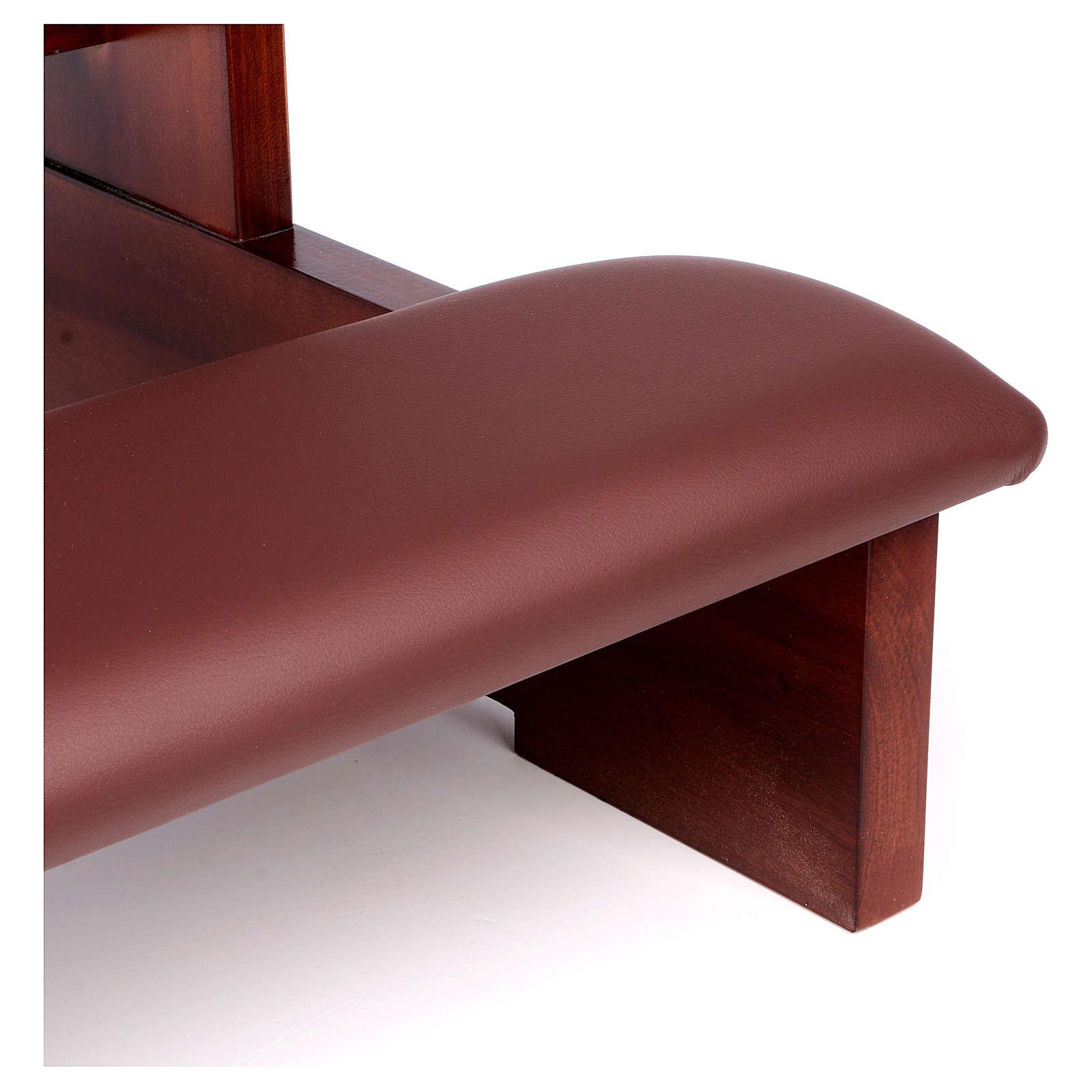 Genuflexório madeira nogueira 4