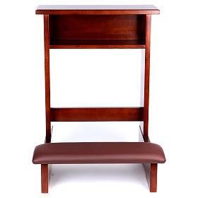 Ambões, Genuflexórios, Mobiliário: Genuflexório madeira nogueira