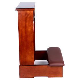 Genuflexório madeira nogueira s3
