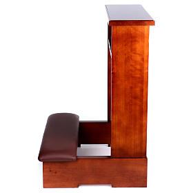 Genuflexório madeira nogueira s4