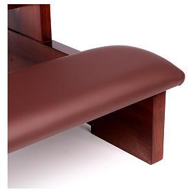 Genuflexório madeira nogueira s8