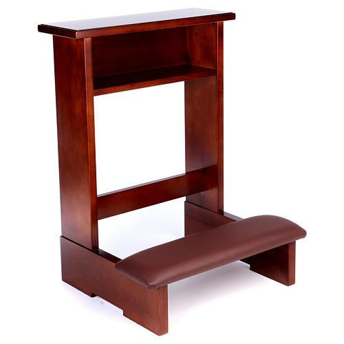 Genuflexório madeira nogueira 2