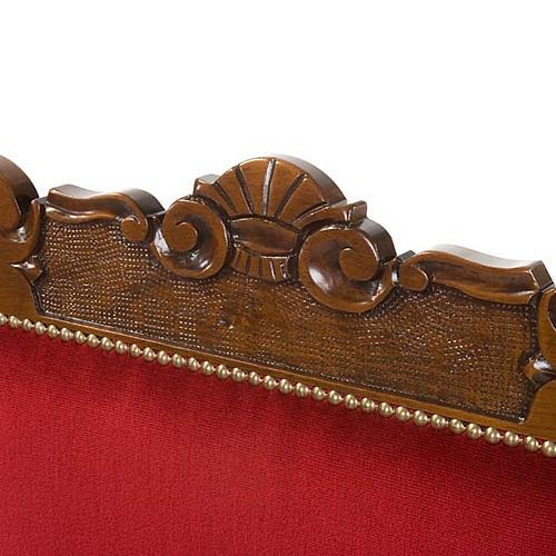 Silla tipo barroco para sacristía de madera de nogal 2