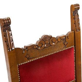 Silla tipo barroco de terciopelo y madera de nogal s4