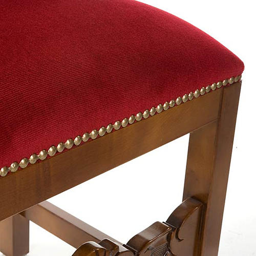 Silla tipo barroco de terciopelo y madera de nogal 3