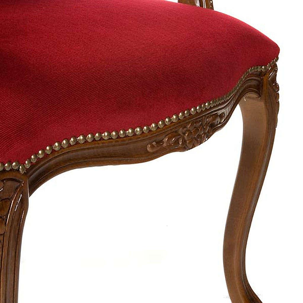 Silla tipo barroco de madera de nogal 4