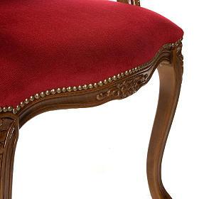 Silla tipo barroco de madera de nogal s4