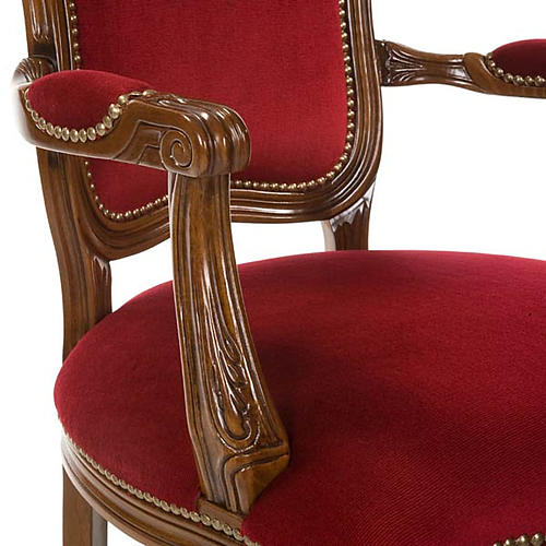 Silla tipo barroco de madera de nogal 3