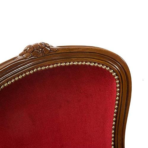 Silla tipo barroco de madera de nogal 5