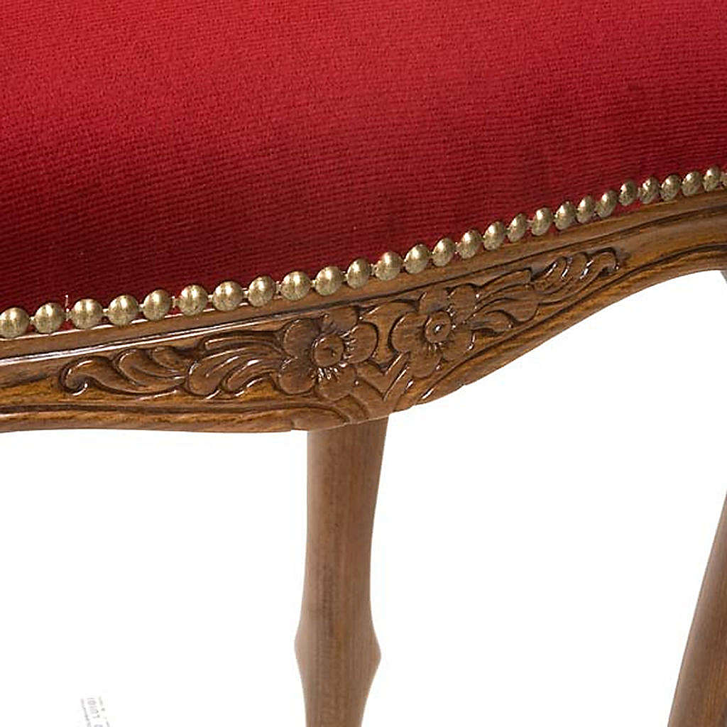 Sanctuary stool with red velvet 4