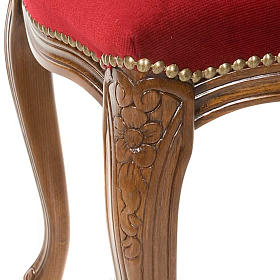 Sanctuary stool with red velvet s4