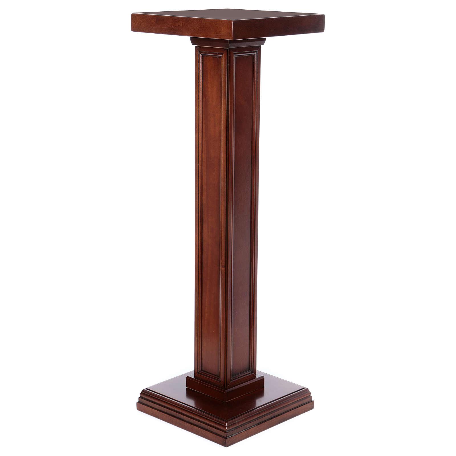 Columna para estatuas de madera de nogal 4