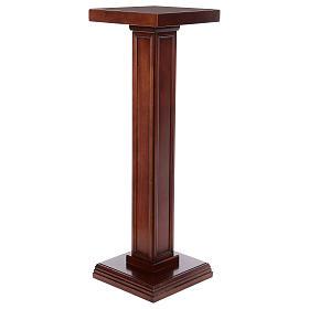 Columna para estatuas de madera de nogal s3