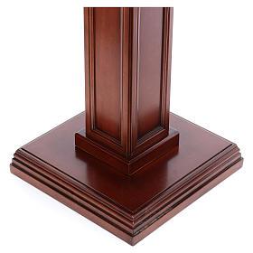 Columna para estatuas de madera de nogal s4