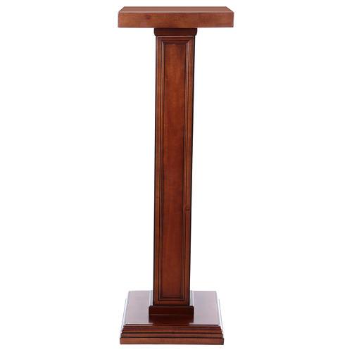 Columna para estatuas de madera de nogal 1