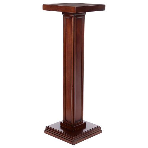 Columna para estatuas de madera de nogal 3
