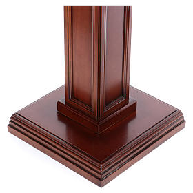 Colonne pour statue en bois de noyer s4
