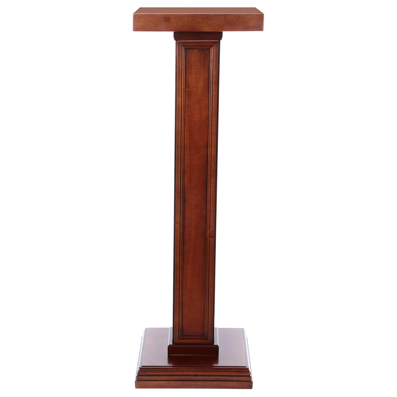 Colonna per statue legno di noce 4