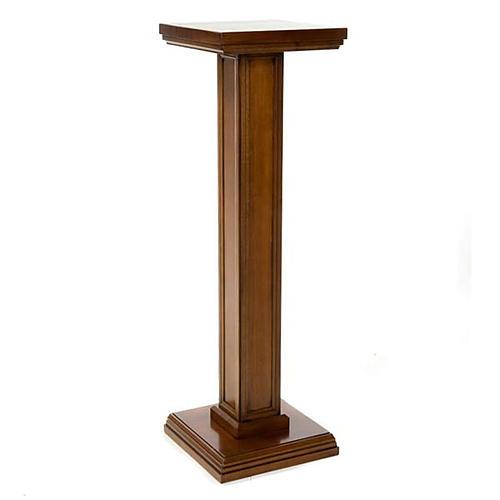 Colonna per statue legno di noce 1
