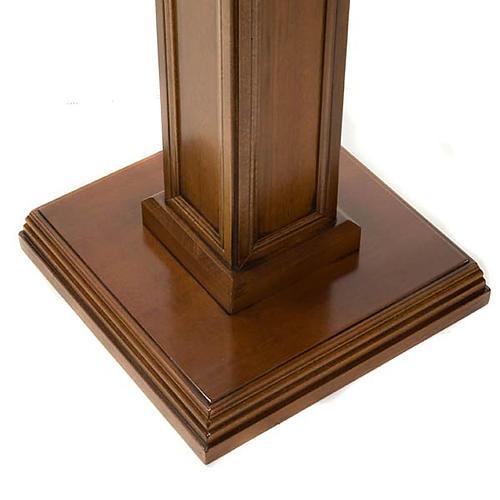 Colonna per statue legno di noce 3