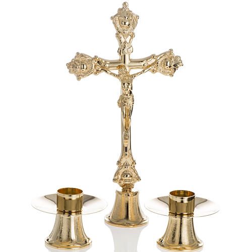 Altar crucifix and candle stick set 1