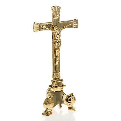 Completo altare  croce e candelieri ottone 4