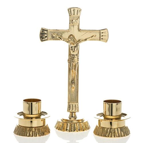 Completo para altar, candelabro de latón 1