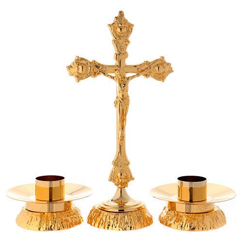 Completo para altar  candelabro y cruz 1
