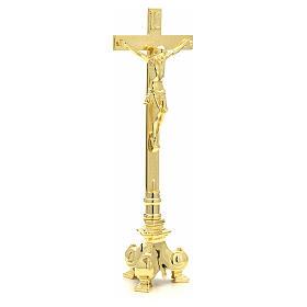 Cruz y candelabros para altar de latón s5