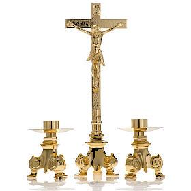 Cruz y candelabros para altar 3pz s1