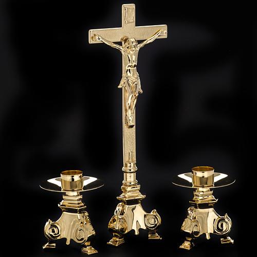 Cruz y candelabros para altar 3pz 7