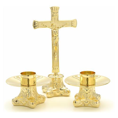 Completo para altar 3 pz de latón 1