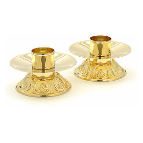 Altar set with cross and candlesticks s3