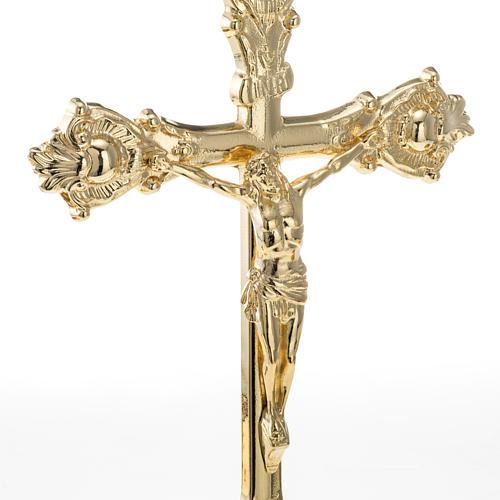 Decoración Cruz y candelabros de altar 3 piezas 3