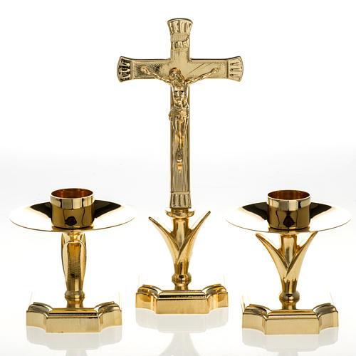 Candelabro para el altar con cruz 1