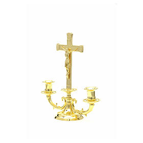 Altar candelabrum with cross s7