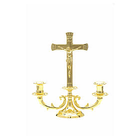 Altar candelabrum with cross s1