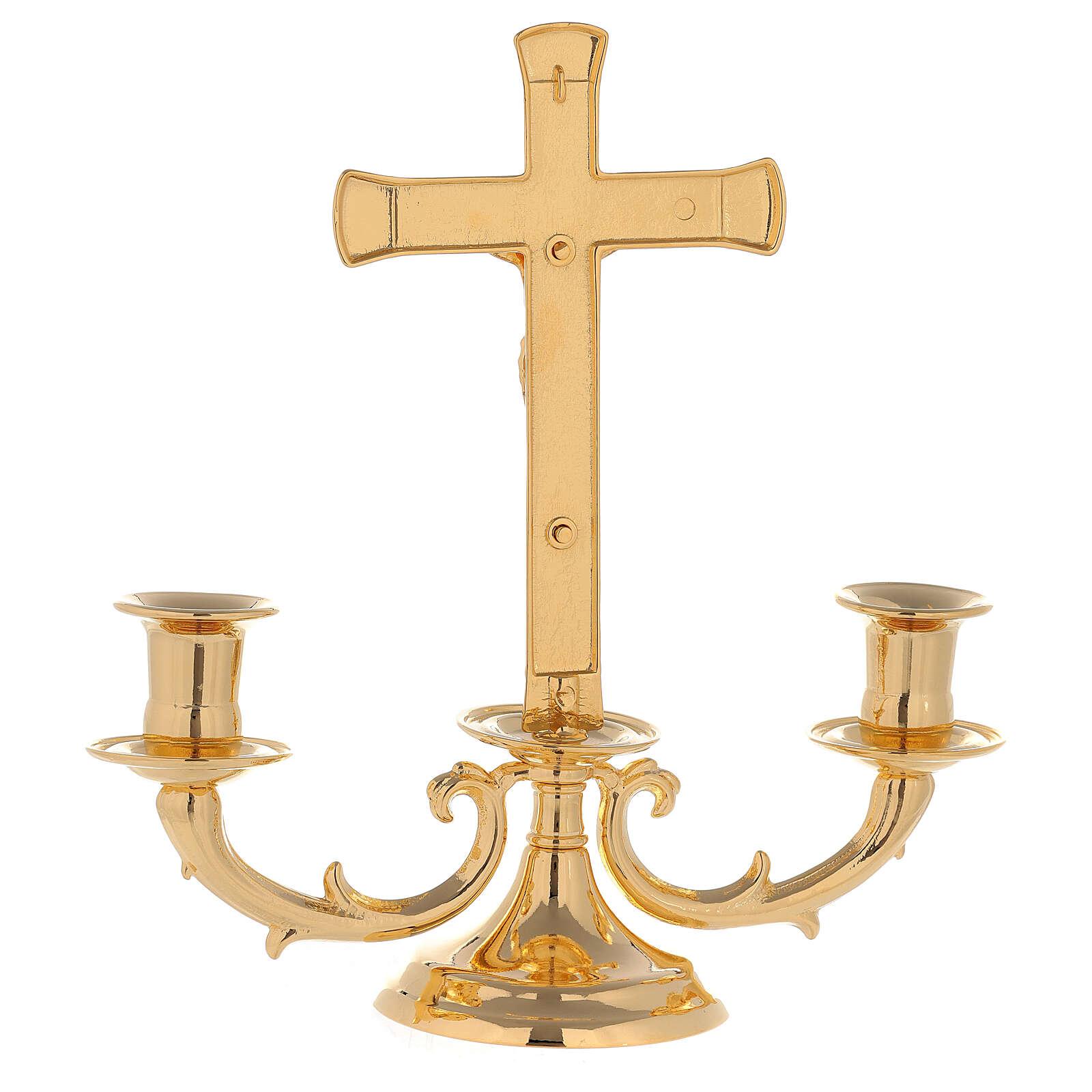 Candelabro con cruz para altar 4