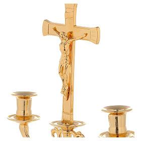 Candelabro con cruz para altar s2
