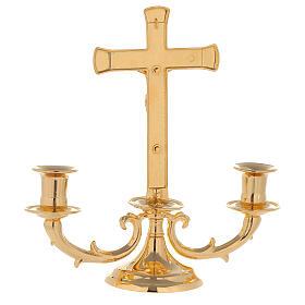 Candelabro con cruz para altar s5