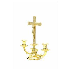 Chandelier avec croix pour autel s2