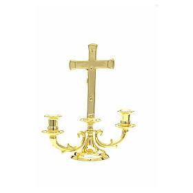 Chandelier avec croix pour autel s3