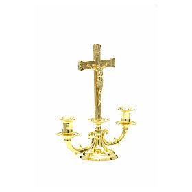 Chandelier avec croix pour autel s4