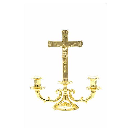 Chandelier avec croix pour autel 1